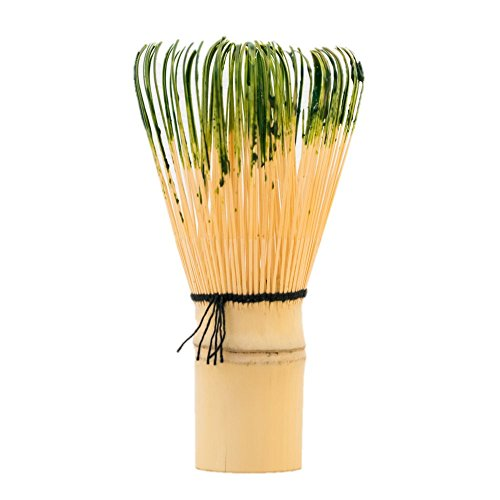 matcha-green-tea-whisk-chasen-with-free-bamboo-scoop-chasaku-100-prongs-are-made-by-hand-used-for-mi