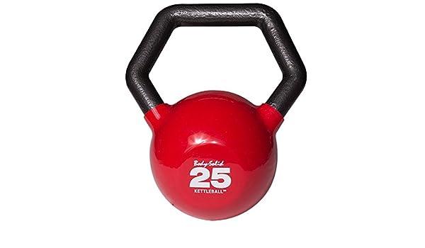 Body-Solid Kettleball 25 lb. Vinilo sumergido pesa rusa con mango en ángulo multi-grip: Amazon.es: Deportes y aire libre