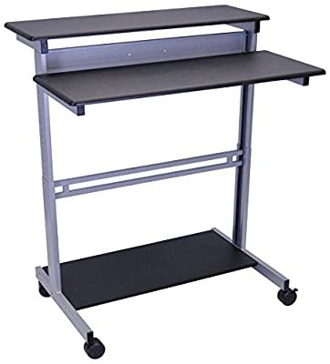 Mobile Ergonomic Stand up Desk Computer Workstation by Stand Up Desk Store