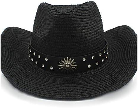 c33be46f1 YXHM AE Men's Cowboy Hat Sun Hat Raffia Hat Summer Casual Men's ...