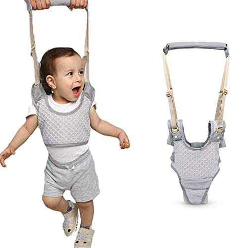Handheld Baby Walking Harness for Kids, Adjustable Toddler Walking Assistant with Detachable Crotch and Bib, Safe Standing and Walk Learning Helper for 8+ Months Baby