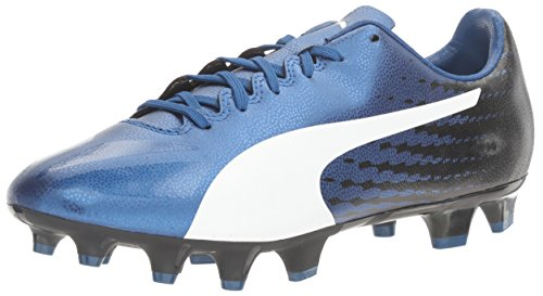 Puma Mens evoSPEED 17.4 AG Soccer Shoe True Blue-puma White-puma Black