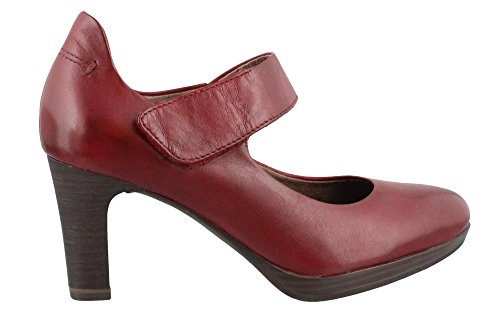 Tamaris Women's Zealot 1-1-24401-27 Bordeaux Leather Shoe