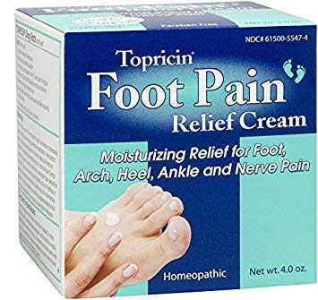 Topricin Foot Pain Relief Cream, 4 oz (Pack of 2)