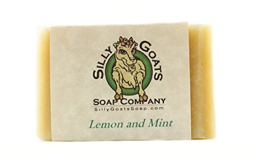 Homemade Goat - Lemon & Mint - Handmade Goats Milk Soap