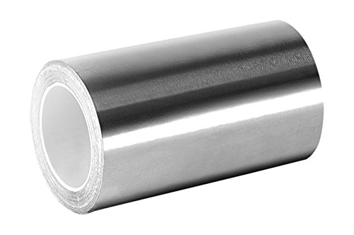 3M 3361 Silver High Temperature Stainless Steel/Acrylic Adhesive Foil Tape, 3