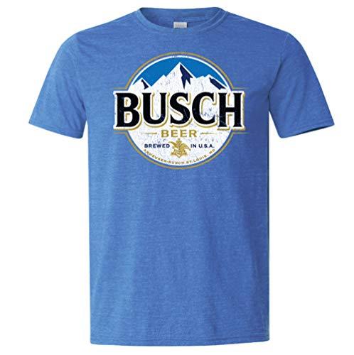 Brew City Beer Gear Busch Light Full Logo Short Sleeve T-Shirt-Heather Royal-XL