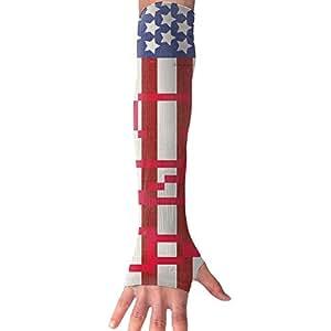Funda de brazo sin dedos guantes Unisex CNA flag-american bandera al aire libre Sun Block suave compresión deportes