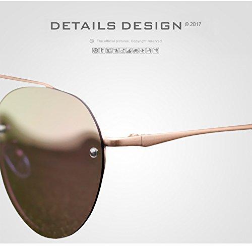 Driving Hombres polarizadas Jusheng Mirror Hombre Gafas Sol Color Gold Sunglasses de para Silver para Lady UV400 qx0qv1