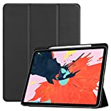 TUFF LUV Smart Leather Case (inc Pen Slot) with Type View Stand for Apple iPad Pro 11 (2018) - Black