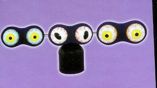 Set of 3 Shaking LED Eyes Halloween Lighted Sound Effect Yard Decor -