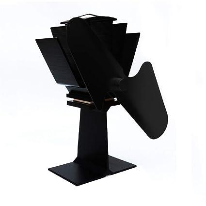 Admier Estufa Ventilador Chimenea Nuevo diseño 2 Cuchillas de Registro de energía térmica Quemador Estufa de