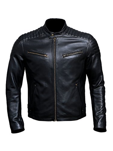 Artistry Leather Luxury Premium Black Handmade Genuine Leather Jacket For (Genuine Leather Racing Jacket)
