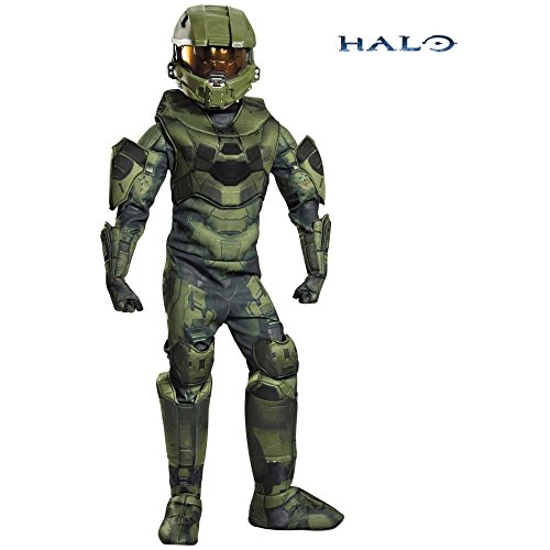 Disguise Master Chief Prestige Costume, Medium (7-8) (Halo Master Chief Kids Costume)