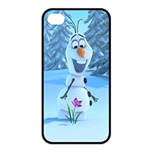 Stylish Frozen Snowman Olaf Design Rubber TPU Shell Protector for Iphone 4 4S,Waterproof Rubber TPU Cover Phone Case For Iphone 4/4S