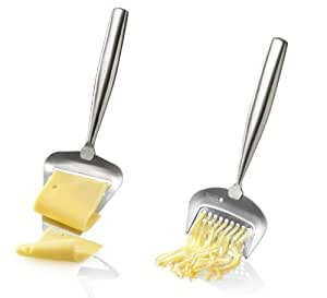 Boska Holland De Luxe Stainless Steel Cheese Slicer & Grater - 2pc. Set