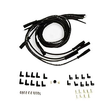 9,5 mm negro recto Bujía Cables distribuidor Hei para Chevy BBC SBC SBF 302 350: Amazon.es: Coche y moto