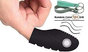 Mini Massager Finger Vibrator Finger Vibe Mini Body Massager Dancer Shoes Shape Small Massager-Black