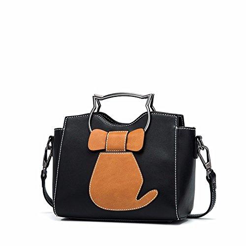 2018 una nuova borsa, moda solo una borsa sulla spalla,gules Black
