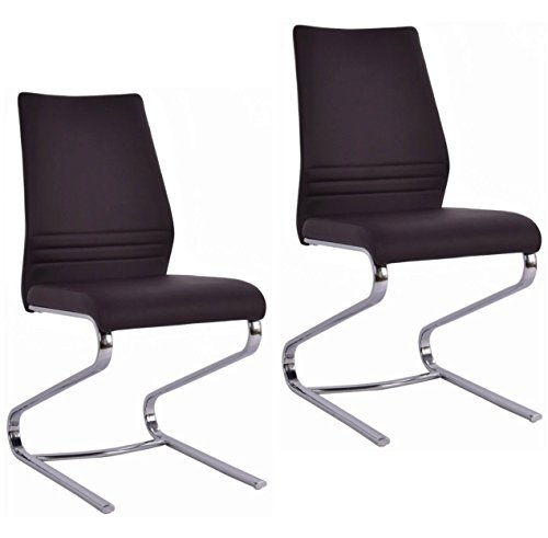 Elegant Modern Design Dining Chairs High Back Anti-Aging PU Leather Seat Home Office Furniture - Set Of 2 - Price Online John Match Lewis