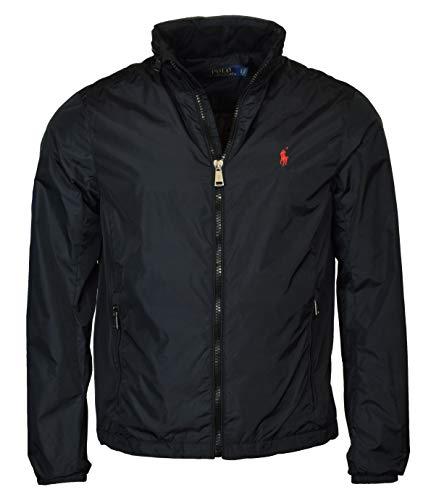 Polo Ralph Lauren Men's Nylon Hooded Windbreaker Jacket - L - Black