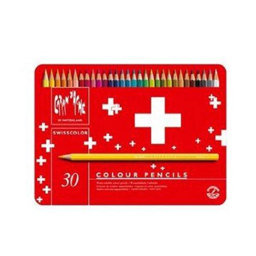 CREATIVE ART MATERIALS Swisscolor Pencils Metal Box, Set of 30 (1285.730)