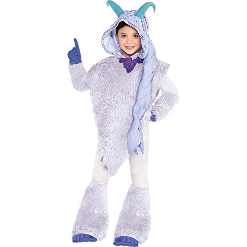 Costumes USA Smallfoot Meechee Costume for Girls, Size Small, Includes a Furry White Poncho, Leggings, and Blue Gloves ()