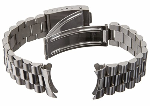 20mm Solid Stainless Steel President 70's Oyster Style Watch Band 0257 -