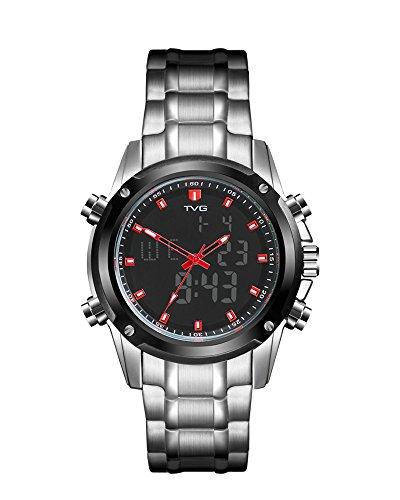 Mens Digital Sports Watch Tvg Military Watches Outdoor Electronic El Back Light Display Alarm Stopwatch Waterproof Watch