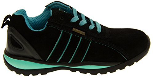 Northwest Territory Ottowa Black And Blue/Green Suede Leather Toe Cap Safety Shoes 8 B(M) US by Northwest (Image #2)