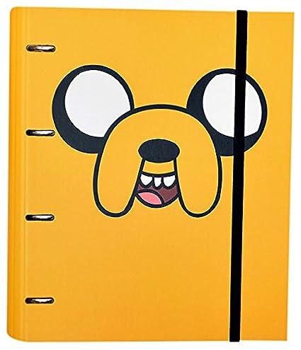 Grupo Erik Editores Carpeta 4 Anillas Troquelada Premium Adventure Time Jake