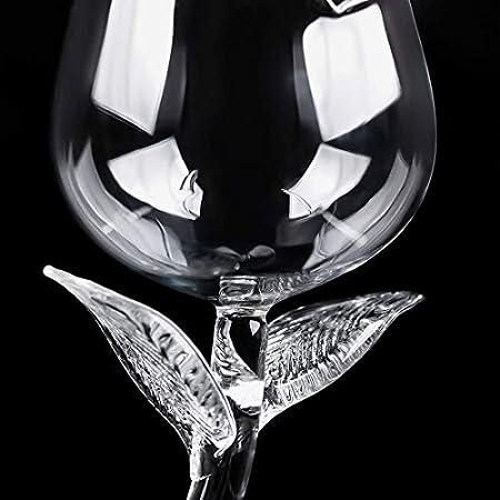 Copa de Vino Tinto Personalizada Forma Creativa de Rosa, Copas de Vino Blanco Elegantes y Simples para el Hogar, la Fiesta, la Idea de Regalo (2 Pieces)