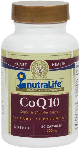 Nutralife COQ10 (Коэнзим Q10) 200 мг 60 Кошерный Вегетарианский Капсулы