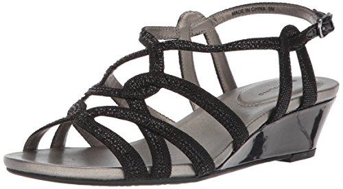 Bandolino Women's Galtelli Wedge Sandal, Black, 7 M (Bandolino Womens Wedge)