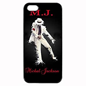 Michael Jackson MJ - Black Case - Custom Personlized Tpu Durable Rubber Silicone Case Cover Skin For iPhone 5 5S