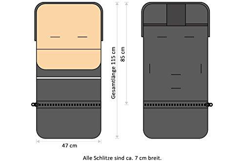 H/&F Universal 2 in 1 Gro/ß Fu/ßsack Kinderwagen Winter Pl/üschstoff mit Noppen Fleece Sportwagen Babyschale F/ür Buggy Winter Herbst Sommer Fr/ühling Ganzj/ährig
