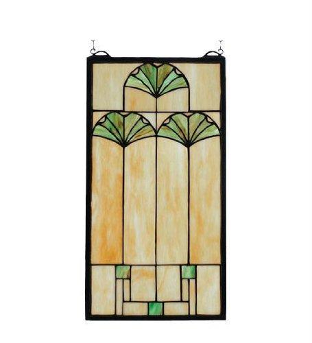 Ginkgo Stained Glass Window - Meyda Tiffany Ginkgo Stained Glass Window