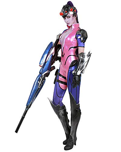 miccostumes Women's Widowmaker Amélie Lacroix Cosplay Costume (WM) Pink and Blue