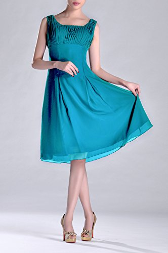 Dress Special Türkis Formal Brides Pleated Occasion the of Length Bridesmaid Mother Knee UdSwzqxq