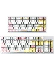 YUNZII Macaron Keycap Set, 146 keycaps PBT Dye Sublimation keycaps Cherry Profile Custom Keycaps for Mechanical Keyboard (Macaron Keycap)