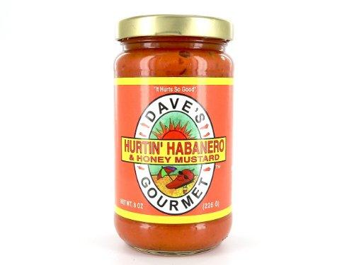 Dave's Gourmet Hurtin' Habanero & Honey Mustard, 8-Ounces Glass Jars (Pack of - Mustard Honey Habanero