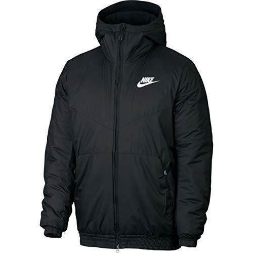 (Nike Men's Sportswear Synthetic Fill Jacket Black/White Size)
