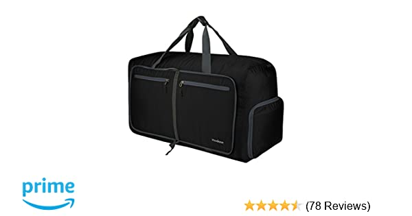 Amazon.com  modase 80L Travel Duffel Bag Large Foldable Duffle Bag with  Shoulder Straps for Women   Men - Lightweight Travel Bag with Big Capacity 9d3cf7fa66320