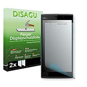2 x DISAGU Armor screen protector for Wiko Ridge Fab screen fracture protection film