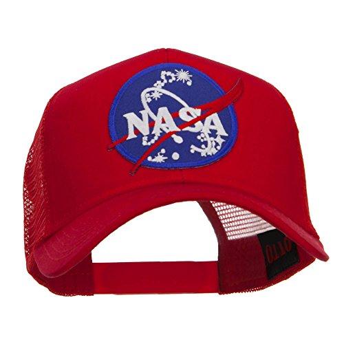 E4hats Lunar Landing NASA Patched Mesh Back Cap - Red ()
