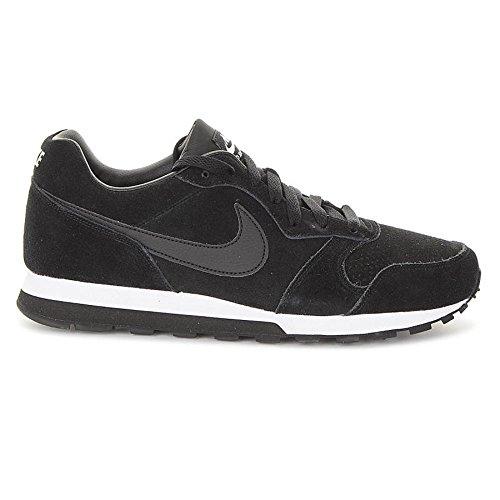 Nike MD Runner 2 Leather Prem - Zapatillas de running, Hombre Negro / Blanco (Black / Black-White)