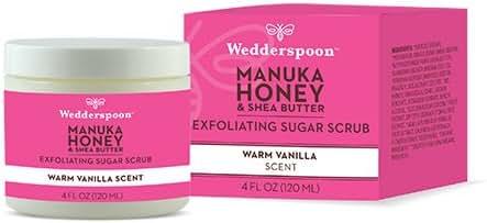 Wedderspoon Manuka Honey & Shea Butter Exfoliating Sugar Scrub, 6.9 Ounce