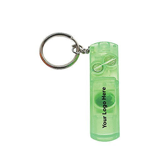 (Whistle Light And Compass Key Chain - 150 Quantity - $0.95 Each - PROMOTIONAL PRODUCT/BULK/BRANDED with YOUR LOGO/CUSTOMIZED)