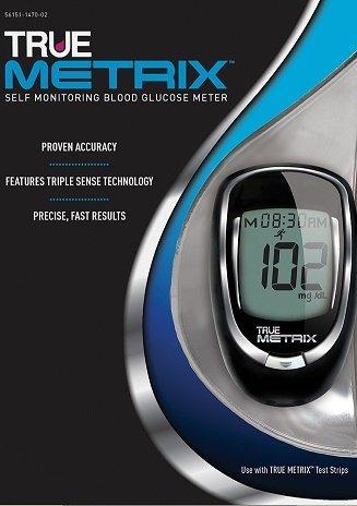 True Metrix Blood Glucose Meter Kit with 10 Pack