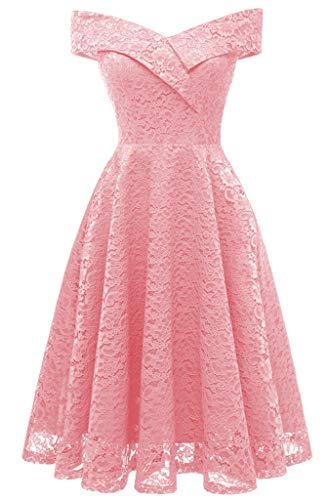 per Pink da occasioni Lady da Abiti Honor speciali Vernassa festa Skater Floral Abito donna speciali in da Midi Vintage xxl S cerimonia pizzo Abiti 1d6xxOqwHF